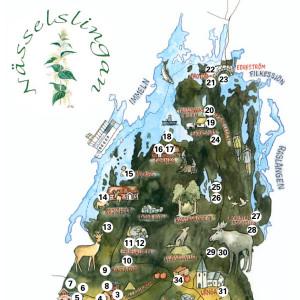 Nässelslingan i nordöstra Skåne, en del av Harry Martinsons barndomslandskap.