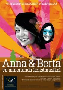 Anna & Beata, pjäs från Västerbottensteatern gästar Stockholm i maj.