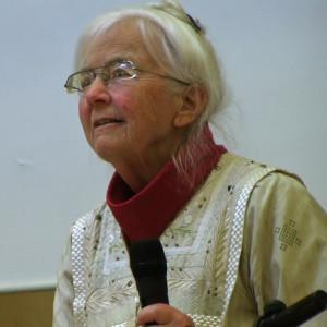 Camilla Odhnoff avslutade årsmötesförhandlingarna efter att ha lett dem år 2008.