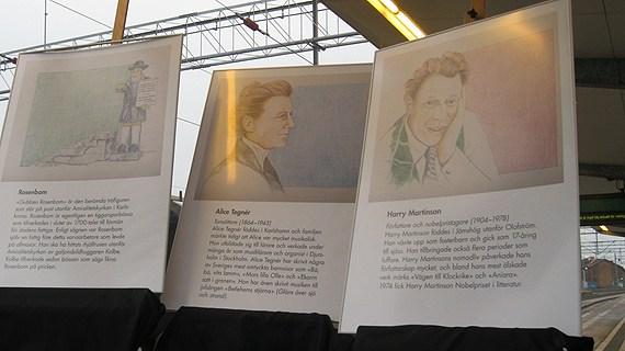 """Harry Martinson, Alice Tegnér och Rosenbom har fått ge namn åt tågen på den nya """"krösnabanan"""" genom Blekinge till Emmaboda."""