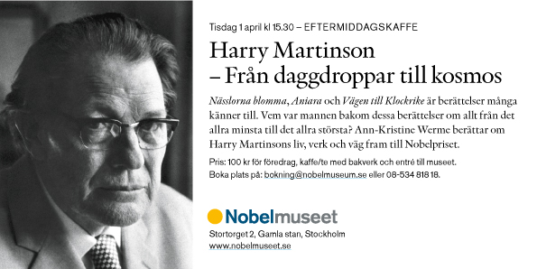 Föredrag Harry Martinson 1 april