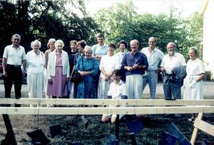 Sommarkurs i Jämshög 1992. Inger Paulin längst till höger, vid sidan av maken Thorsten. Foto Marianne Westholm.