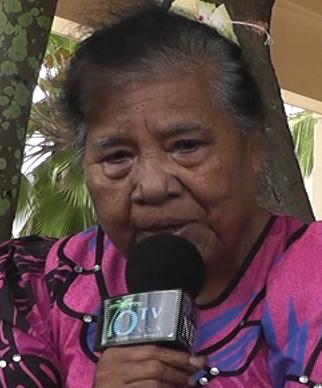 Lemyo Abon, tvingad i exil och överlevare efter kärnvapentesterna vid Marshallöarna.