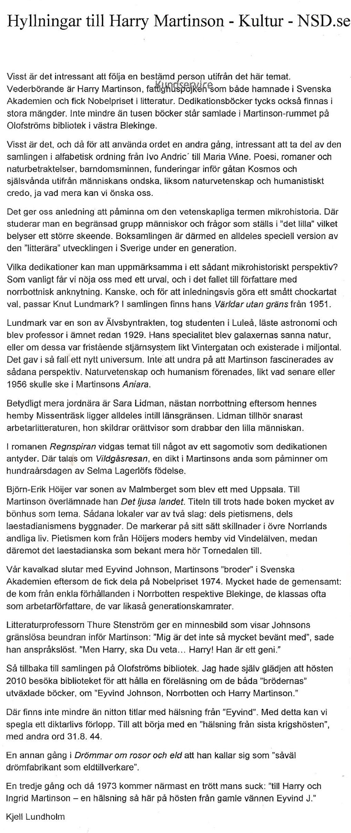Kjell Lundholm-iNSD