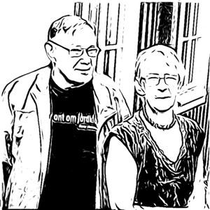 Bengt och Ing-Marie Bejmar värdpar i Författarmuseet i Jämshög.