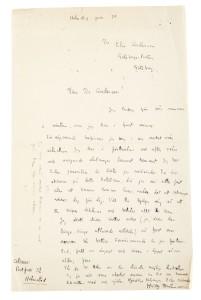Även brev ingick i samlingen. Foto: Stockholms auktionsverk.