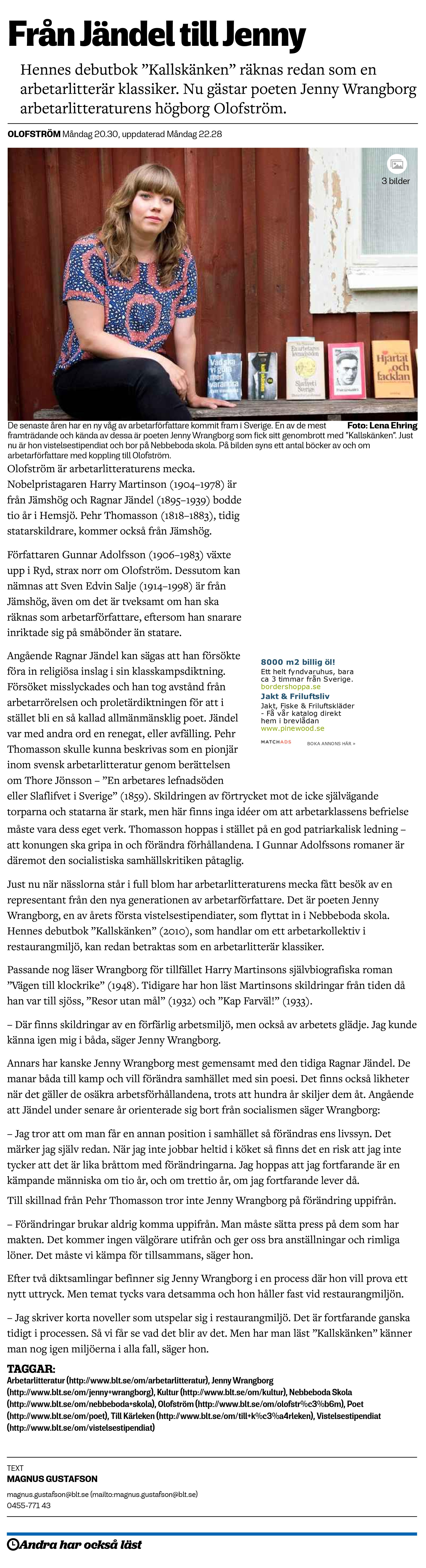 Från Jändel till Jenny - Blekinge Läns Tidning
