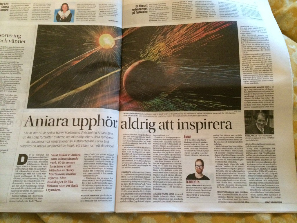 Artikeln i Göteborgsposten den 2 januari 2016.