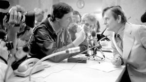 Olof Palme under säkerhetskonferensen i Stockholm 1984. Foto: DN.