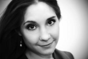 Alexandra Büchel, sopran, spelar den blinda poetissan i Aniara.